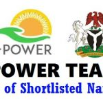 Npower Teach List of Shortlisted Candidates