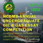 NCDMB Annual Oil & Gas Essay Competition 2018