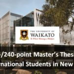 FASS 120-/240-point Master's Thesis Awards for International Students in New Zealand -Ho To Apply
