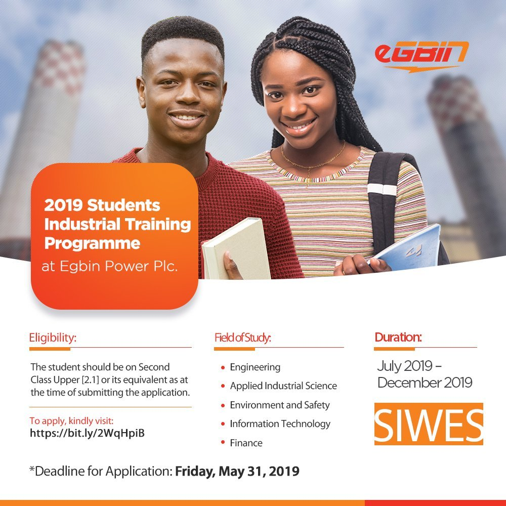 Egbin Power Plc Students Industrial Training Programme