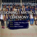 Admiralty University of Nigeria (ADUN) Matriculation Ceremony Schedule 2018/2019 Fresh Students
