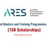 Apply Now For ARES Masters and Training Scholarships In Belgium 2019-2020