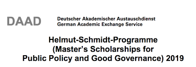 DAAD Helmut-Schmidt Masters in Public Policy and Good Governance Scholarship Programme