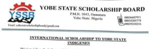 Yobe State Scholarship Board International Scholarship