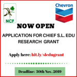 Nigerian Conservation Foundation Chief S.L Edu Research Grant 2019 [How To Apply]
