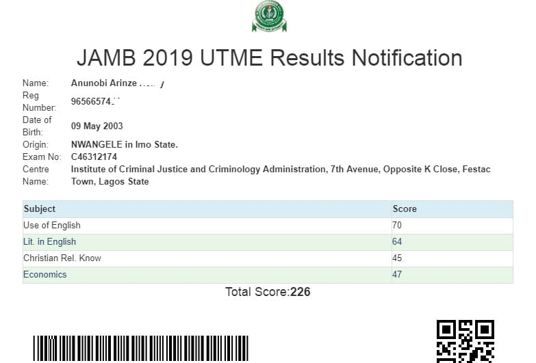 Jamb Result 2020/2021 is Out
